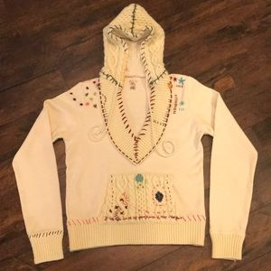 Free People Rare Embroidered Sweatshirt / Hoodie